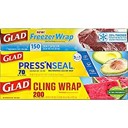 Pack of plastic wrap products sold on amazon