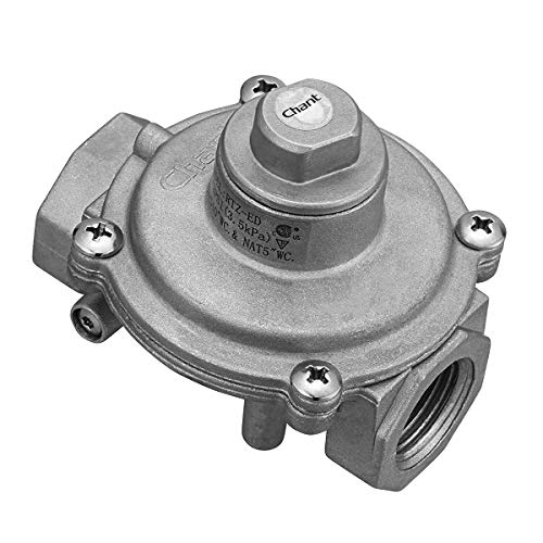 """Gas Pressure Regulator, GASLAND 1/2"""" NPT In/Out Gas Pipe, 1/2 PSI(3.5 kPa) Gas Inlet LPG10""""WC. & NAT5""""WC. Gas Pressure Regulator for Liquefied Propane and Natural Gas, Easy To Install"""