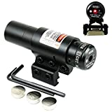 Higoo Red Laser Dot Sight, Military Picatinny Rail Tactical Hungting Red Laser Scope, Red Laser Aiming Sight