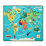 Melissa & Doug Round The World Travel Activity Rug (39 x 36 inches) - Wooden Car, Airplane, Boat, Passport with Stickers