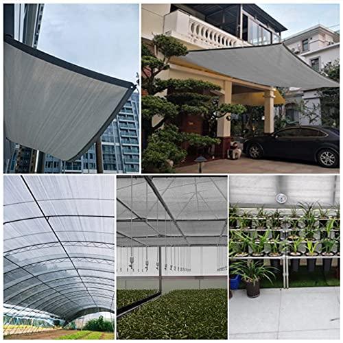 Skuggnät Trädgård Skuggningsnät Växthus Balkong Säker Integritetsnät Skuggnät Tjockna Grå UV-beständig Väderbeständig HDPE AWSAD (Color : Gray, Size : 6x10m)