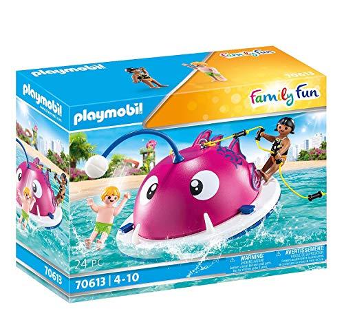 PLAYMOBIL Family Fun 70613 Kletter-Schwimminsel, Schwimmfähig, Ab 4 Jahren
