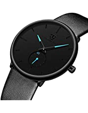 腕時計 メンズ腕時計 シンプル ビジネス カジュアル ファッション レザーウォッチ 薄型 アナログクオーツ 人気 宴会 紳士腕時計 ブラック