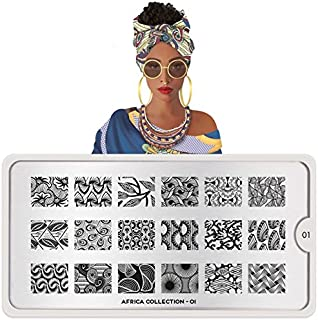MoYou London Nail Art Stamping Plate Africa Collection 01 Shipping within 24h US Stock