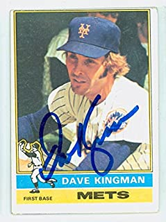 Dave Kingman AUTOGRAPH 1976 Topps #40 New York Mets CARD IS VG, OC TB