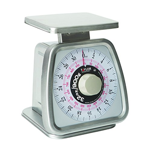 Taylor TS32D Mechanical Portion Control Scale with Dashpot, NSF - (32 oz /900 g) (0.25 Ounce Mechanical Scale)