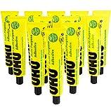 UHU Pegamento adhesivo multiusos – libre de disolventes – 60 ml – Paquete de 12 tubos