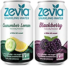 Zevia Zero Calorie, Naturally Sweetened Sparkling Water Combo Pack, 12 Oz (Pack Of 24) - Packaging May Vary