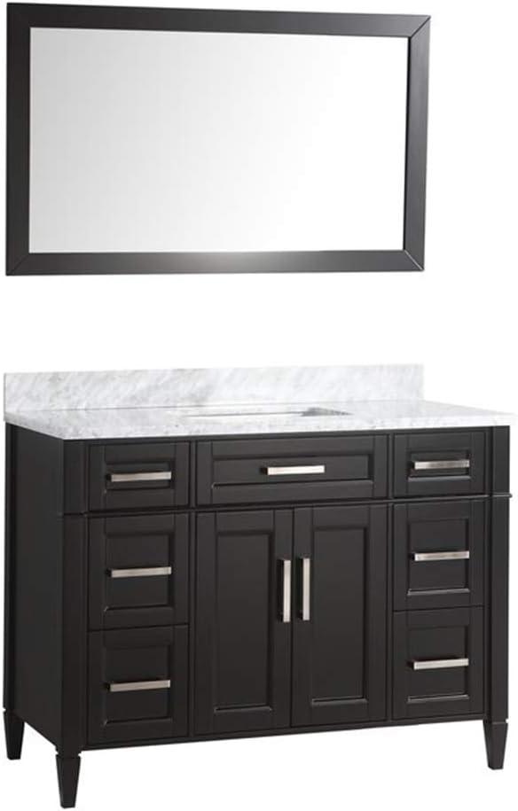 Buy Vanity Art 48 Inch Single Sink Bathroom Vanity Set Carrara Marble Stone Top Dove Tailed Drawers Soft Closing Doors Undermount Rectangle Sink Cabinet With Free Mirror Va2048 E Online In Vietnam B01ipyxkig