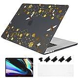Batianda - Carcasa protectora para MacBook Air de 13 pulgadas, 2020, 2019, 2018, versión M1, A2337, A2179 y A1932 Touch ID con piel de teclado francés, radio de miel 2