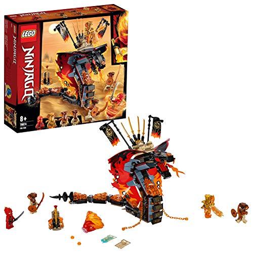 Lego 70674 NINJAGO Feuerschlange, Spielzeug für Kinder mit 4 Minifiguren, Meister des Spinjitzu Spielset