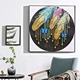 Special Shaped Diamond Painting Kits for Adults DIY 5D Partial Handmade Drill Cross Stitch Diamond Painting Kits Crystal Rhinestone Arts for Home Ornaments Wall Decor Gifts (D)