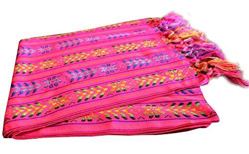 Del Mex Mexikanische Rebozo Schal Doula (XL (2,7 x 1,5 m), Pink)