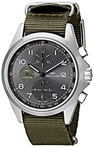 Glycine Unisex 3924-10AT-TB2 'Combat' Stainless Steel Automatic Watch with Green Nylon Band image