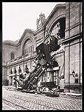 1art1 Züge Poster Kunstdruck und Kunststoff-Rahmen -