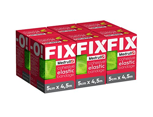 Medrull 6 Stück Pflaster Rolle in Meterware 5cm x 4.5m Latexfrei FIX-O Grün