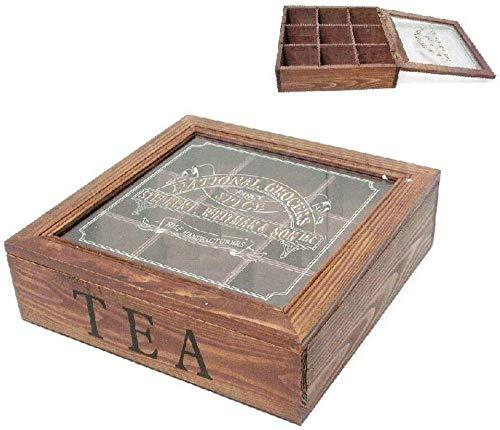 Dcasa Caja Te Tapa Cristal Impresa Cajas Almacenaje de Adornos Festivos Artículos para el hogar, Multicolor (Multicolor), única: Amazon.es: Hogar