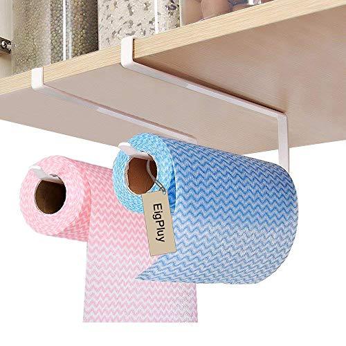EigPluy 2 piezas Portarrollos de Papel Bajo Armario Toalla de Papel Dispensador Sin Taladro Rollo de Papel Titular para Cocina y Baño