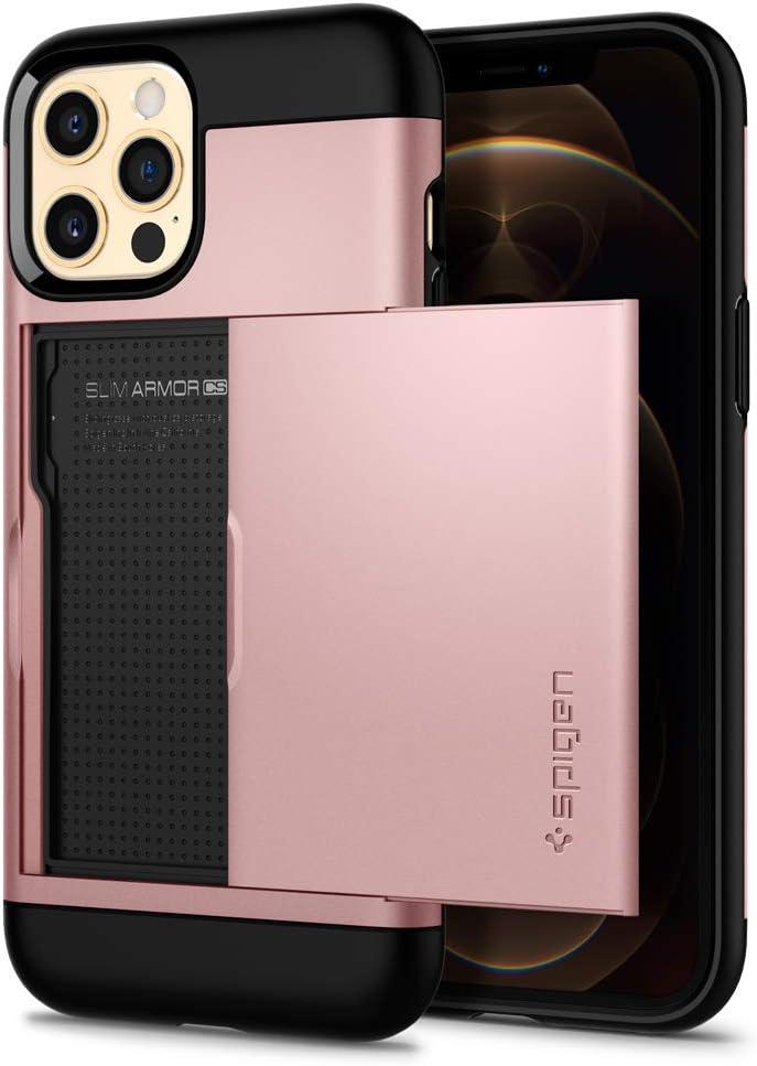 Spigen Slim Armor CS Designed for iPhone 12 Case (2020) / Designed for iPhone 12 Pro Case (2020) - Rose Gold