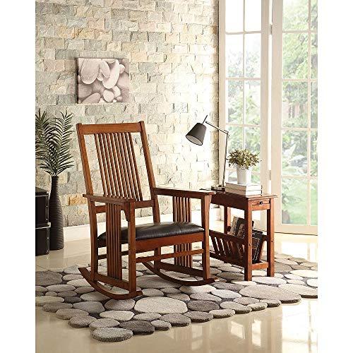 Zebery Acme Kloris Rocking Chair in Tobacco 59214