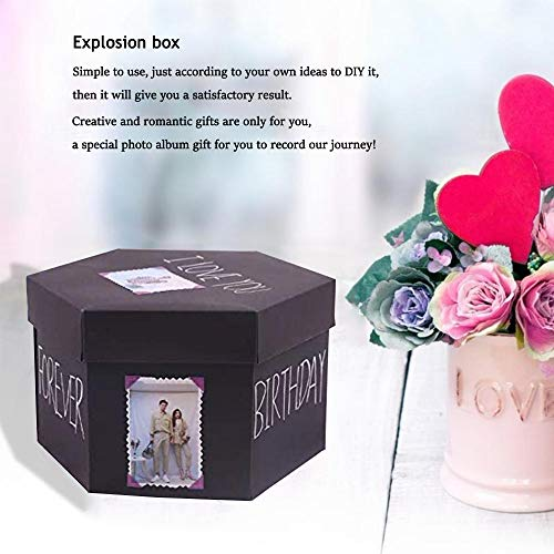 Explosion Gift Box Set,DIY Photo Album Box,Surprise Exploding Love Box for Couples,Sentimental Gift for Wedding Box…