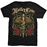 Motley Crue Exquisite Dagger Camiseta Manga Corta, Negro, XL para Hombre