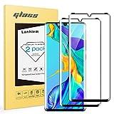 Lanhiem Vetro Huawei P30 PRO,Vetro Temperato P30 PRO[Copertura Completa][2 Pezzi][Garanzia a Vita] Senza Bolle,Durezza 9H,Ultra Resistente,Pellicola Temperata Compatibile con la Cover P30 PRO,Nero