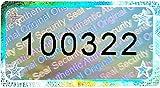 90 pezzi – Sigillo olografico 3D con numero di serie – 30 x 16 mm argento lucido – sigillo di sicurezza, sigillo di qualità, etichette di sicurezza, etichetta autoadesiva