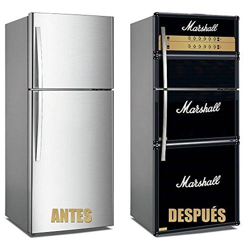 Vinyl Stickers Marschall für Kühlschrank. | Kühlschrank Aufkleber | Verschiedene Maße 200x60 cm| Klebstoffbeständig und einfache Anwendung | Stilvoller Design-dekorativer