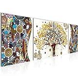 decoración de la mesa Wall Gustav Klimt Árbol de la Vida - 160 x 50 cm Vista de impresión en lienzo Salón Apartamento - listo para colgar - 004646a