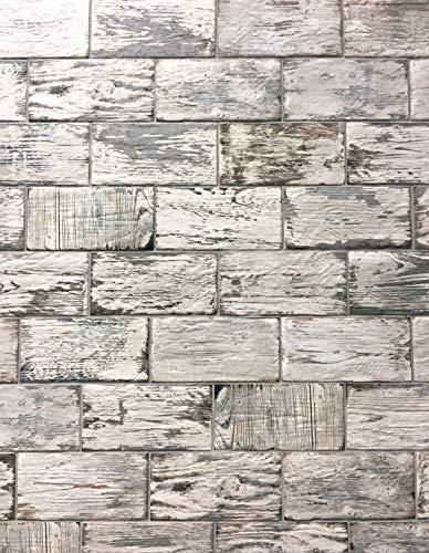 Rustic White Brick Look 4x8 Porcelain Tile Wall Floor Kitchen