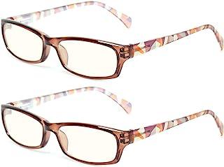 2 Pair Computer Glasses - Anti-blue glasses - Blue Light Blocking Reading Glasses for Women