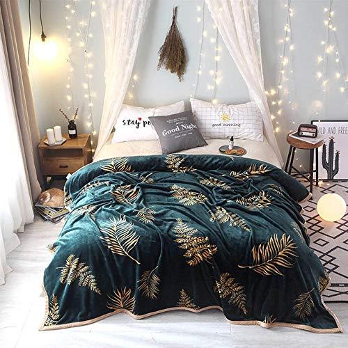 tongchuang Weiche, feste Fleecedecke für Erwachsene, Sofa, Bettwäsche, Manta, rot, grün, blau, Flanell-Überwurf (Größe: 120 x 200 cm)