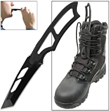 Tactical Warrior Tanto Full Tang Emergency Outdoor Survival Gear Boot Knife .
