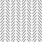Modern Stripe Peel and Stick Wallpaper Black and White Herringbone Self Adhesive Wallpaper Peel and Stick Geometric Lines Decorative Wallpaper Removable Wall Paper Vinyl Bedroom Cabinet 17.7'x 196.8'