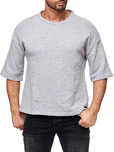 Red Bridge Herren Sweater 3/4 Oversize Shirt Basic Casual Fashion Sweatshirt