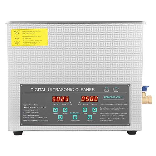 10L 220V Alta potencia de doble frecuencia Limpieza de joyas profesional Calefacción...