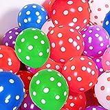 Globo de Lunares 50 piezas, 12 Pulgadas Globos de Látex Colores Decoraciones de Cumpleaños para Grandes Eventos Pequeños Fiestas Cumpleaños Bodas Fiestas Festivas Decoración