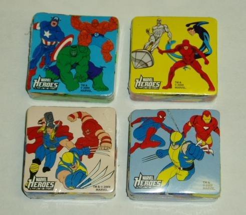 4 diferentes paños de lavado de toallas de Marvel Heroes Magic Pop Up