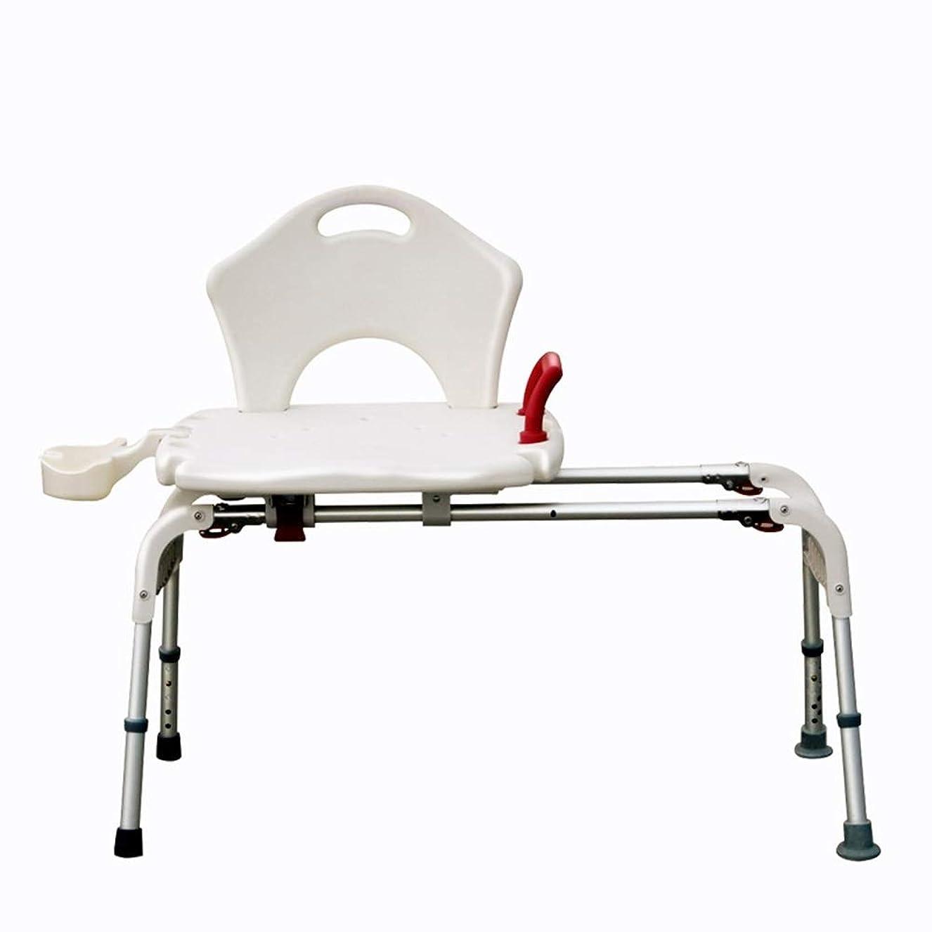 にはまって電気バイナリ背部およびシャワー?ヘッドのホールダーが付いているデラックスな高さの調節可能なアルミニウムBath/シャワーの椅子