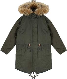 綿ツイル×高密度タフタ袖切り替え薄中わたモッズコート
