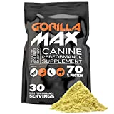 Gorilla Max Muscle Building Powder Supplement for Dogs. for Puppies and Adult Dogs. Vet-Approved.