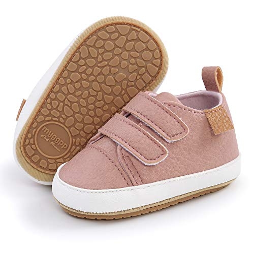 SOFMUO Baby Boys Girls High Top Ankle Leather Sneakers Soft...