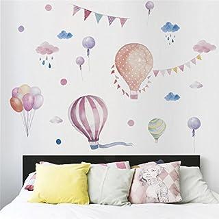 Pegatina pared minimalista globos y banderines vinilo suaves colores para paredes cristal .habitaciones niños salas lectura cabecero cuna y cama, escaparates NOVEDAD 2018 de CHIPYHOME