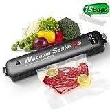 Vacuum Sealer Machine for Food Storage, 2 in 1 Modes Auto Vacuum Sealer