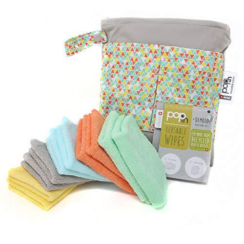 Close,toallitas lavables y reutilizables de bambú para bebes, paquete de 10 unidades, pastel