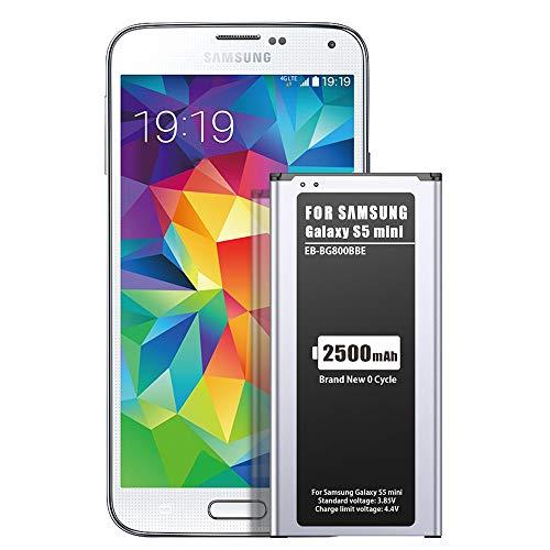ZMNT 2500mAh Akku für Samsung Galaxy S5 Mini, Entspricht Dem Original EB-BG800BBE Lithium-Ionen-Akku der Modelle SM-G800F, Duos SM-G800H Ersatz Handy-Akku für Ihr Smartphone