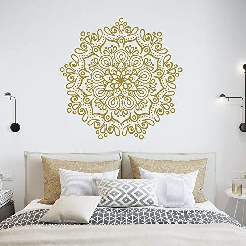 WSYYW Lotus Mandala Wall Decals Vinyl Bohemian Mandala Flower Bedroom Decor Wall Stickers Art Home Decoration Wallpaper A3 36x36cm