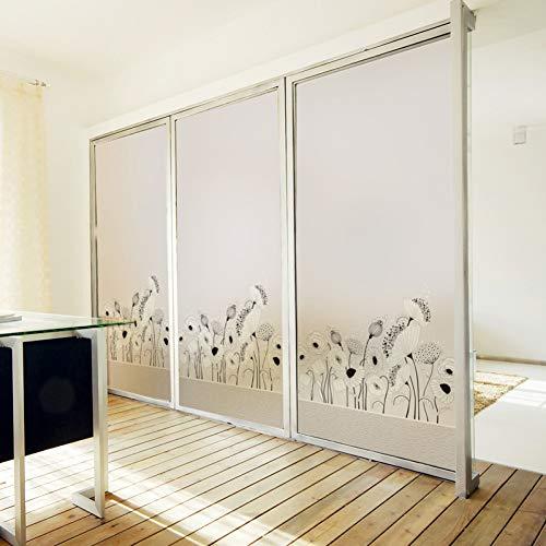 KUNHAN raamsticker raamfolie op maat gekleurd statische Cling raamfolie mat ondoorzichtig privacy glas Sticker Home Decor digitale afdrukken eenvoudig