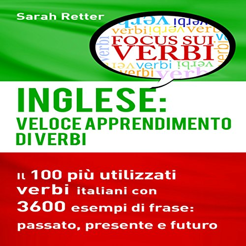Inglese: Veloce Apprendimento di Verbi [English: Fast Verb Learning] audiobook cover art